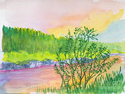 Painting - Rainbow River by Walt Brodis