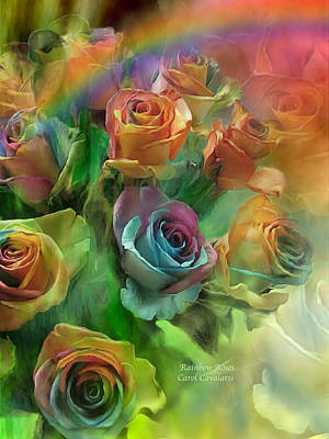 Rainbow Rose Mixed Media - Rainbow Roses by Carol Cavalaris