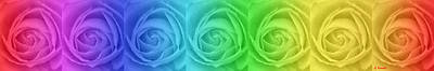Surreal Painting - Rainbow Roses by George Rossidis
