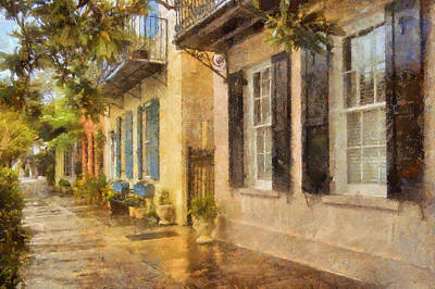 Photograph - Rainbow Row Charleston by JHR photo ART