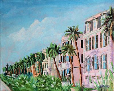 Rainbow Row Painting - Rainbow Row Charleston South Carolina by Todd Bandy