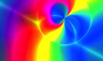 Wrap Digital Art - Rainbow Sapian by Alex Porter