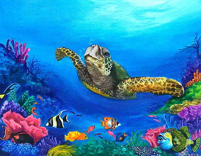 Fish Underwater Painting - Rainbow Reef by Kathleen Kelly Thompson