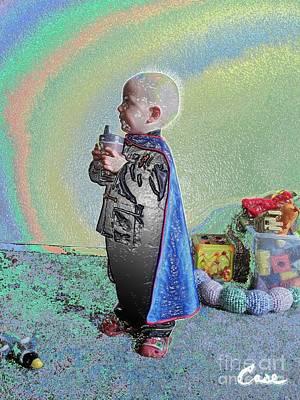 Rainbow Sherbet Little Ninja Boy Art Print