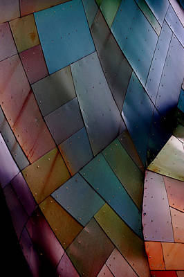 Rainbow Shingles Art Print by Holly Blunkall