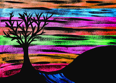 Digital Art - Rainbow Skies by Josephine Ring