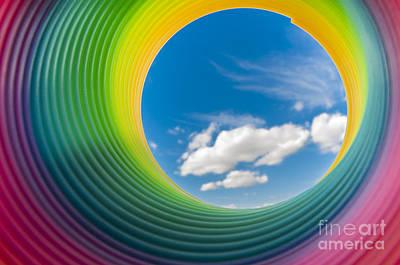Photograph - Rainbow Sky 2 by Steve Purnell