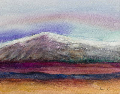 Painting - Rainbow Sky In Alaska by Anais DelaVega