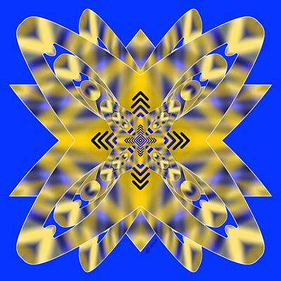 Digital Art - Rainbow Snowflake 1 by Brian Johnson
