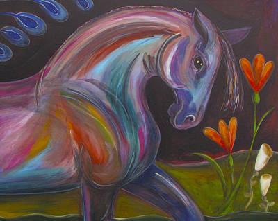 Painting - Rainbow Stallion by Marti McGinnis