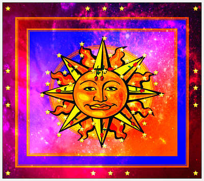 Rainbow Sun Art Print by Mary Anne Ritchie