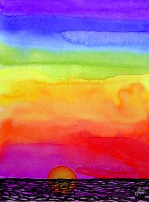 Painting - Rainbow Sunset II by Nieve Andrea