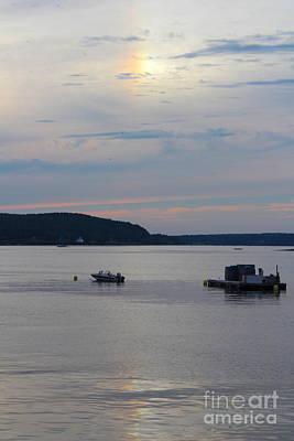 Boats On Water Photograph - Rainbow Sunset by Kathleen Garman