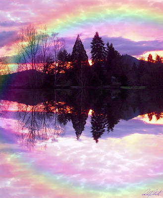 Photograph - Rainbow Sunset Oregon by Michele Avanti