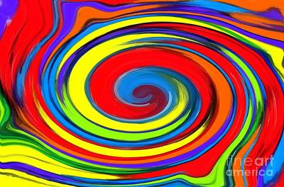 Color Wheel Digital Art - Rainbow Swirl by Chris Butler