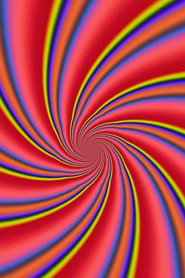 Rainbow Swirls Art Print by Paul Sale Vern Hoffman