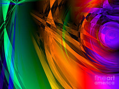 Digital Art - Rainbow Thoughts by Kristi Kruse