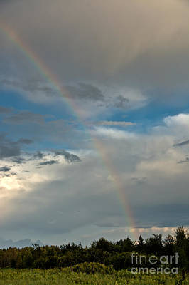 Photograph - Rainbow Through The Clouds by Cheryl Baxter
