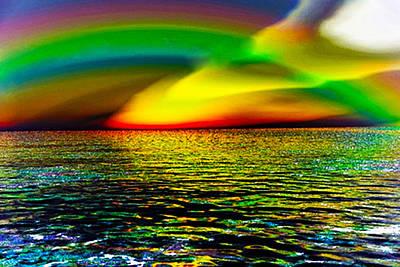 Rainbow Thunder      Enhanced Version Art Print by Rebecca Phillips