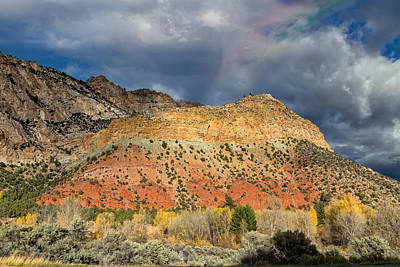 Photograph - Rainbow Touching The Mountain by Kathleen Bishop