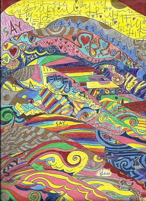 Abstract Patterns Drawing - Rainbow Trails by Ty DAvila