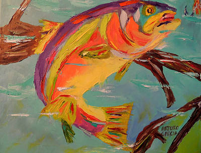 Rainbow Trout Original by Arturo Garcia