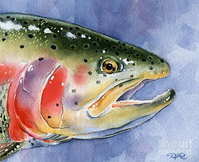 Rainbow Trout Print by David Rogers