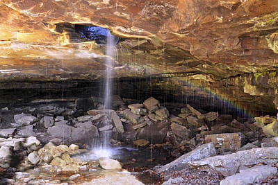 Photograph - Rainbow Under Glory Hole Falls - Arkansas - Waterfall by Jason Politte