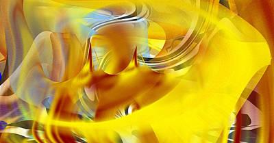 Digital Art - Rainbow Valley Gold by rd Erickson