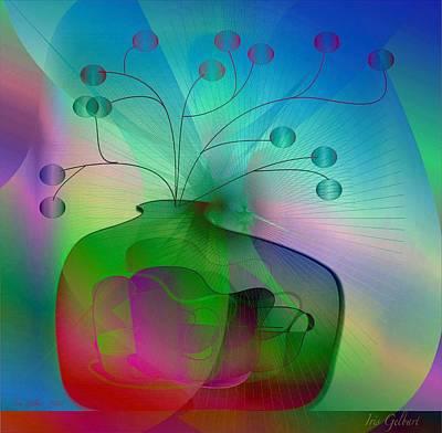 Digital Art - Rainbow Vase by Iris Gelbart