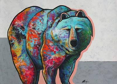 Rainbow Warrior - Grizzly Bear Art Print