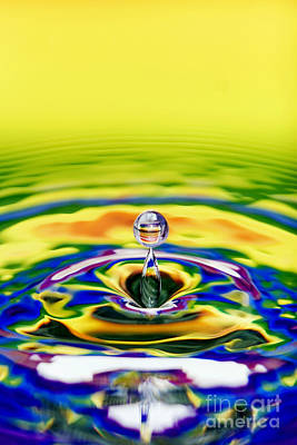 Rainbow Water Drop Art Print by Tim Gainey