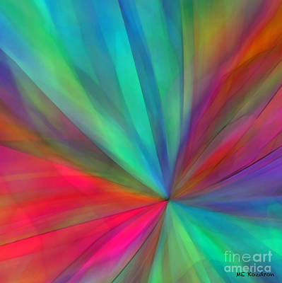 Digital Art - Rainbow Wheel by ME Kozdron