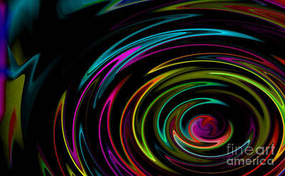Rainbow Whirlpool Art Print