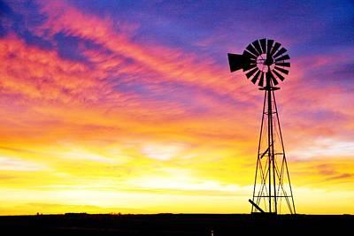 Rainbow Windmill Art Print