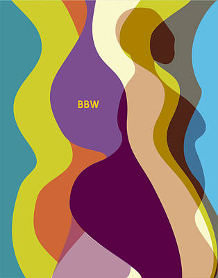 African-american Digital Art - Rainbowbbw by David James