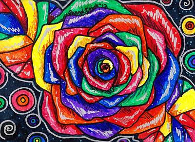 Drawing - Rainbows And Roses by Shana Rowe Jackson