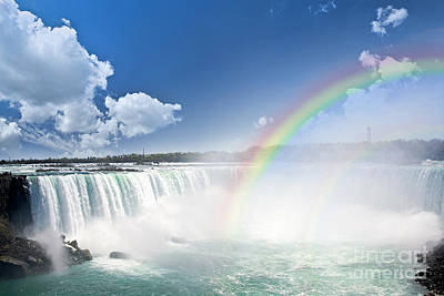 Power Photograph - Rainbows At Niagara Falls by Elena Elisseeva