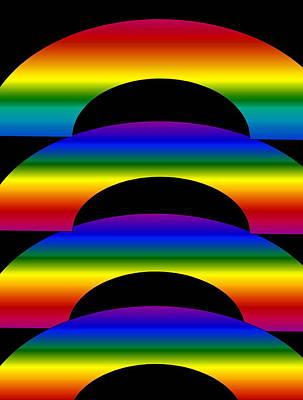 Art Print featuring the digital art Rainbows by Gayle Price Thomas