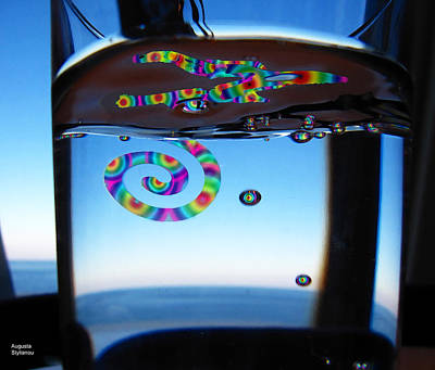 Digital Art - Rainbows In The Glass by Augusta Stylianou