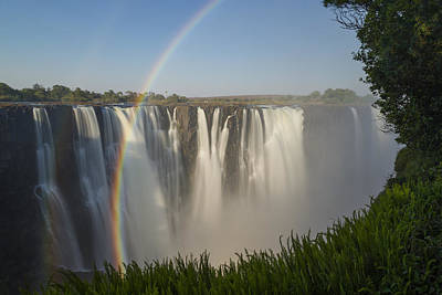 Rainbows In The Mist Of Victoria Falls Art Print