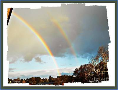 Art Print featuring the photograph Rainbows by Leanne Seymour