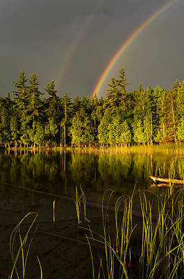 Photograph - Rainbows Over Otter Lake by Thomas Pettengill