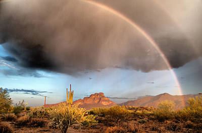 Photograph - Rainbows Over Red Mountain by Tam Ryan