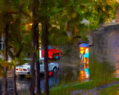 Raindrops At Cuba Art Print by Juan Carlos Ferro Duque