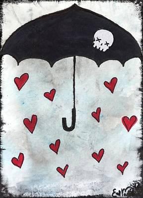 Raindrops Of Love Art Print by Oddball Art Co by Lizzy Love