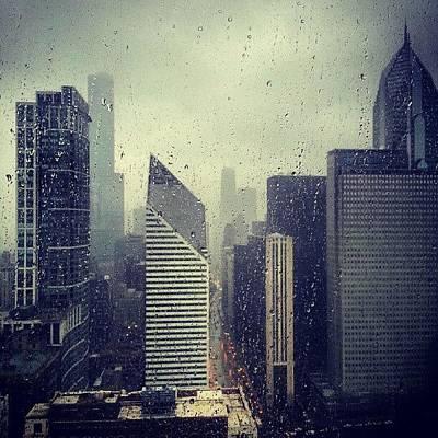 Rain Photograph - Raindrops On My Window by Jill Tuinier
