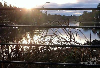 Photograph - Raindrops To River Sunrise by Susan Garren