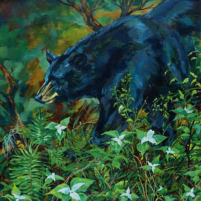 Rainforest Bear Original by Derrick Higgins