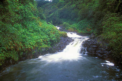 Photograph - Rainforest Cascade And Pool Hana Maui Hawaii by John Burk